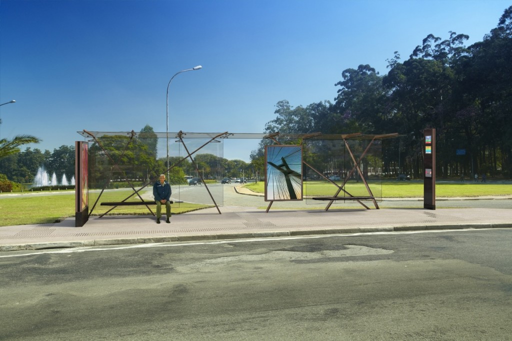 Mobiliário Urbano de SP_MODELO CAOS(abrigo)_Indio da Costa Design