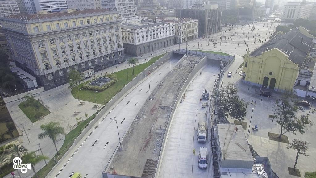 Entrada do tunel na Praça Xv