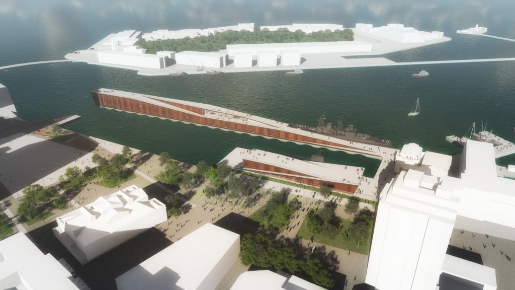 Museu Marítimo_Projeto arquitetônico_Vista aérea