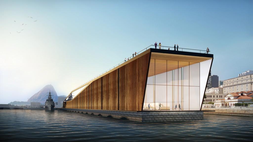 Museu Marítimo_Projeto arquitetônico_Vista do auditório